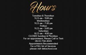 Debutantes School January 2018 Student Clinic Floor Hours